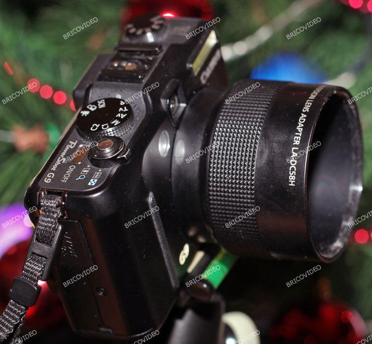 adaptateur convertisseur Grand Angle Canon PowerShot G9