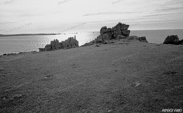 Bord de mer Bretagne noir et blanc - Photo Patrice Faro