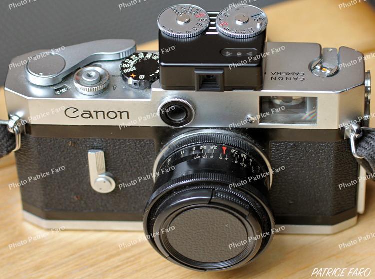 Canon P argentique avec cellule Voigtlander VC-Meter II