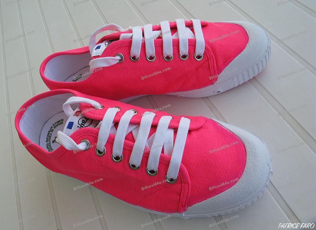chaussures de tennis fluo - Photo Patrice Faro