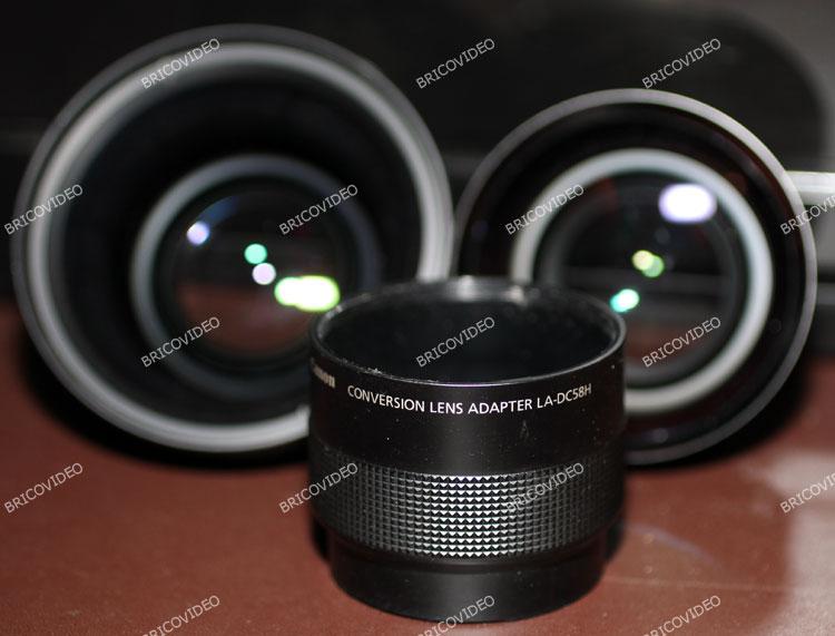 Complément optique grand angle WC-DC58B Canon PowerShot G9