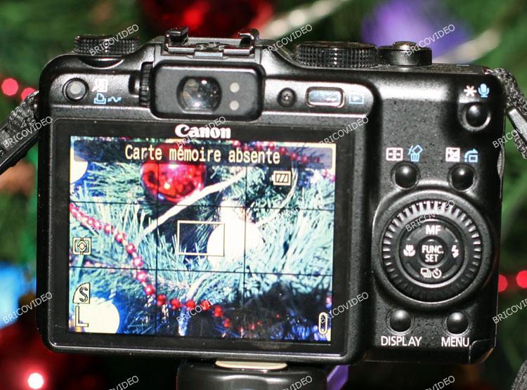 écran Canon PowerShot G9