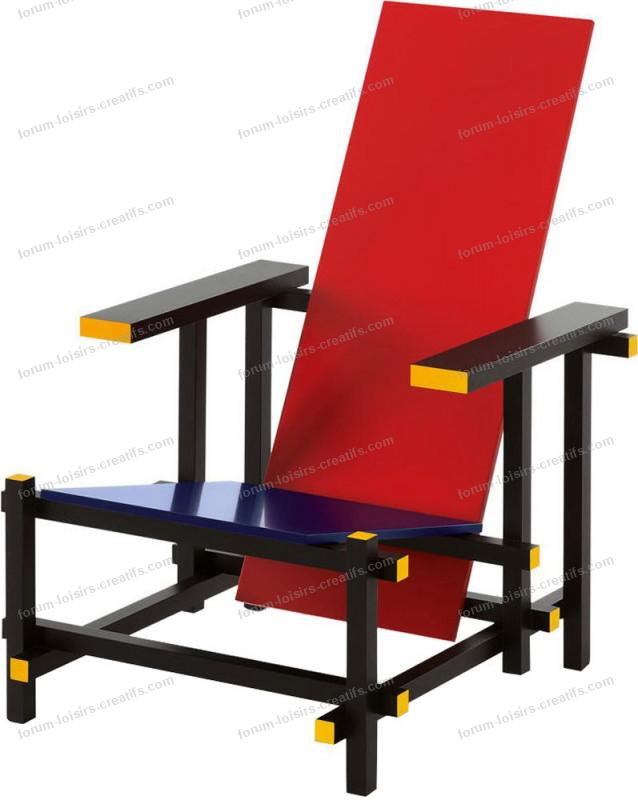 fauteuil design cassina red and blue guerrit rietveld