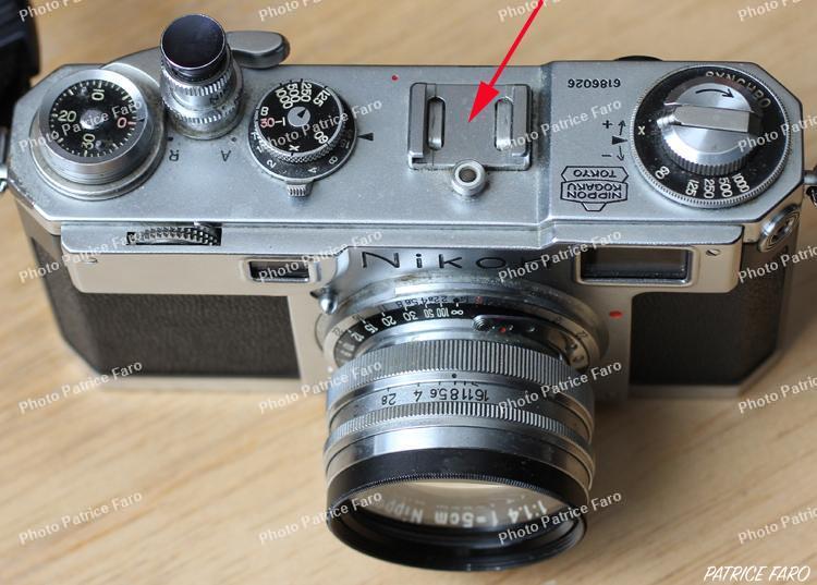 Nikon S2 fixation griffe porte flash cellule Voigtlander VC-Meter II