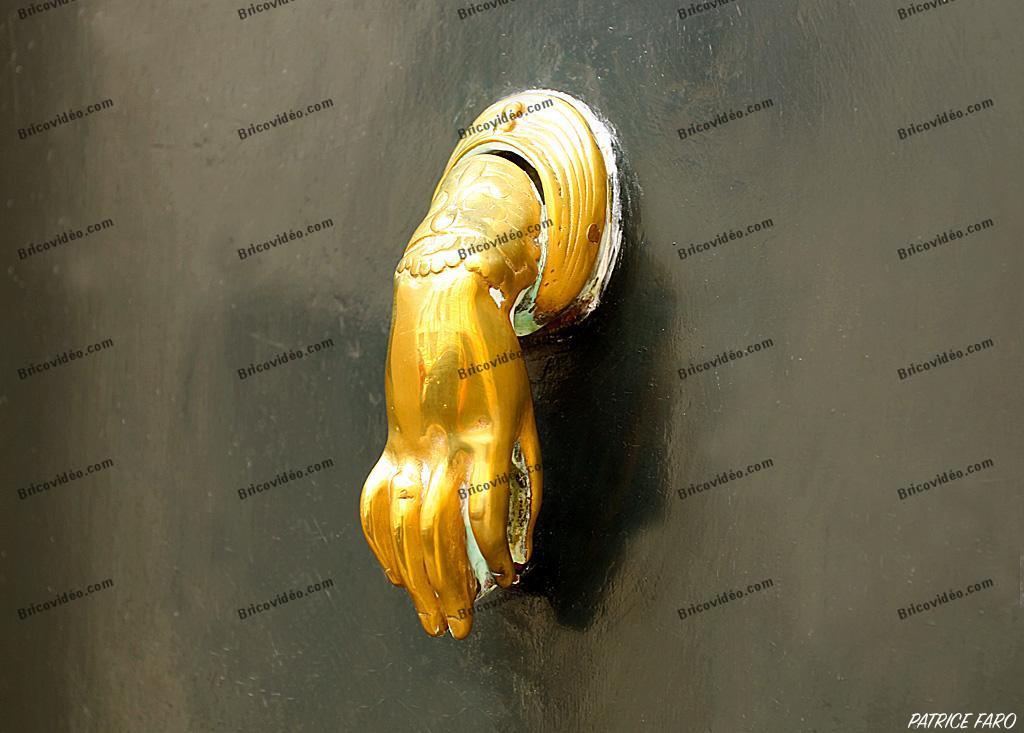heurtoir porte ancienne Paris - Photo Patrice Faro