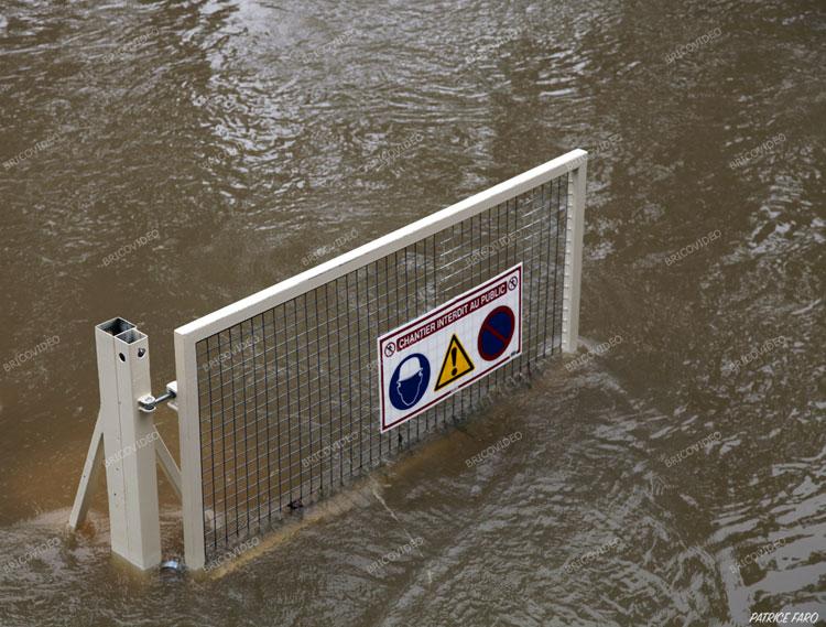 inondations chantier quai de Seine