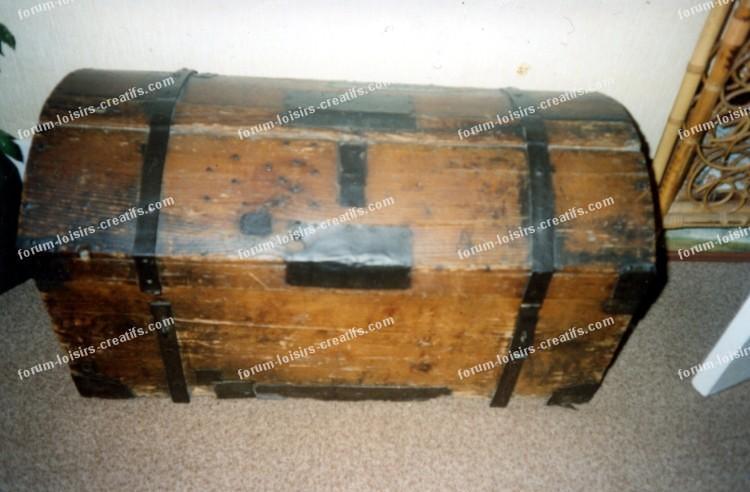 R nover une ancienne malle de voyage en bois conseils - Magasins loisirs creatifs paris ...