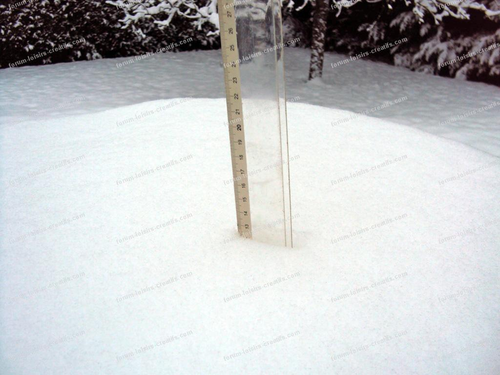 mesure de la neige tombée en Seine-et-Marne