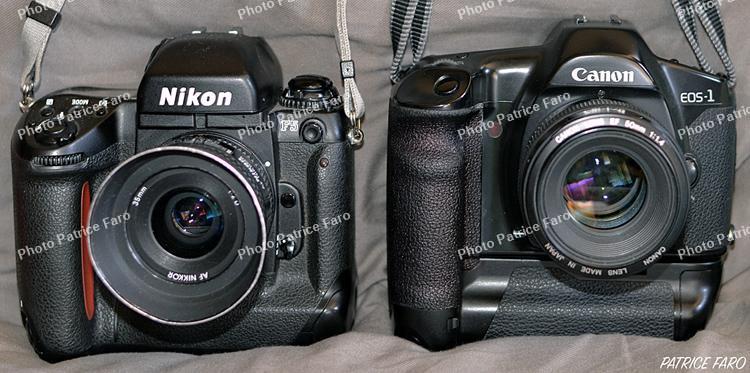 Nikon F5 - Canon EOS‑1 - Photo Patrice Faro