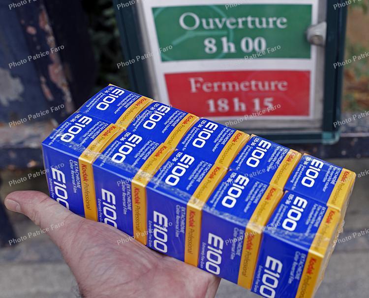 Retour de la pellicule Kodak Ektachrome E100