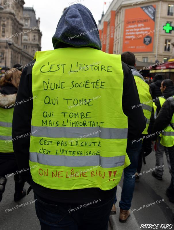 manifestations des gilets jaunes. Photo Patrice Farophoto manifestations gilets jaunes 20