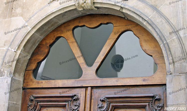 Porte ancienne bois et verre Paris