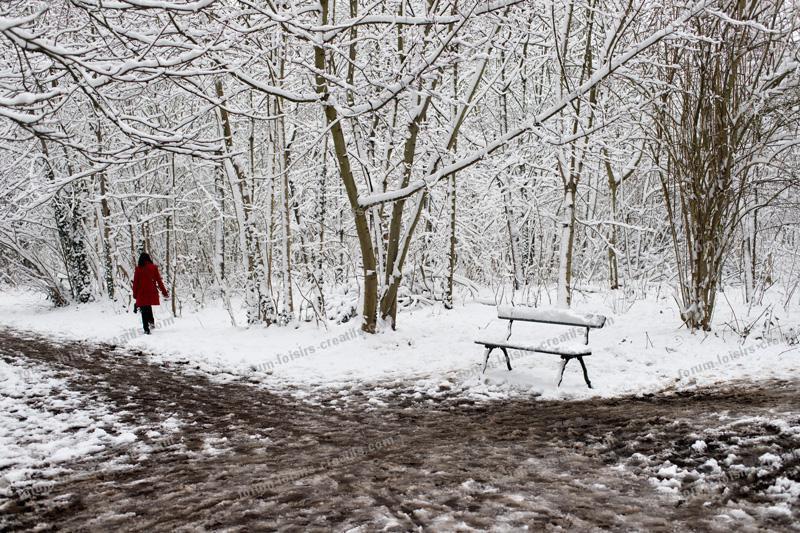 promenade sous la neige au Bois de Vincennes