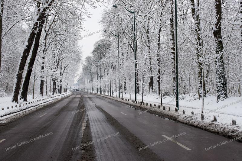 Route dégagée autour du Bois de Vincennes