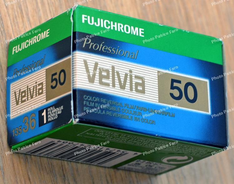 Velvia 50 pellicule diapositive couleur